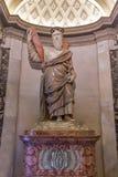 Basilica of Saint Peter church in Vatican, Rome. Statue in the Basilica of St. Peter, Vatican City Stock Photos