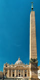 Basilica of Saint Peter and egyptian obelisk, Rome. Basilica of Saint Peter (San Pietro) and egyptian obelisk. Vatican, Rome, Italy Royalty Free Stock Photo