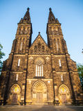 Basilica of Saint Peter and Paul in Vysehrad complex, Prague, Czech Republic Stock Photos