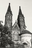 Basilica of Saint Peter and Saint Paul, Vysehrad in Prague, colo Royalty Free Stock Photo