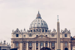 Basilica of Saint Peter in the Vatican Royalty Free Stock Photography