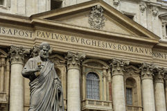 Basilica Saint Peter in Vatican in Rome Stock Photography