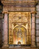 Saint Mary Virgin Icon Basilica of Santa Prassede in Rome, Italy. stock images