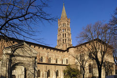 Basilica of Saint Sernin in Toulouse, royalty free stock photography
