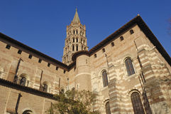 Basilica of Saint Sernin in Toulouse, Stock Photos