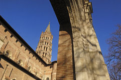 Basilica of Saint Sernin in Toulouse, Royalty Free Stock Images