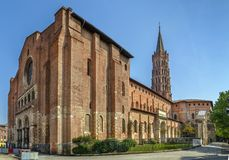 Basilica of Saint-Sernin, Toulouse, France stock image