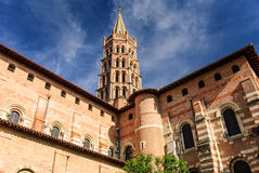Basilica of Saint Sernin, Toulouse, France stock photography