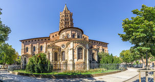 Basilica of Saint Sernin in Toulouse - France. Panoramic view at the Basilica of Saint Sernin in Toulouse - France Royalty Free Stock Images