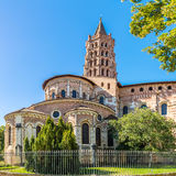 Basilica of Saint Sernin in Toulouse - France. View at the Basilica of Saint Sernin in Toulouse - France Stock Image