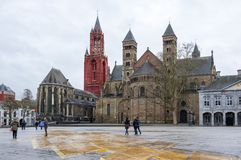 The Basilica of Saint Servatius. Is a Roman Catholic church dedicated to Saint Servatius, in the city of Maastricht, the Netherlands Royalty Free Stock Photography