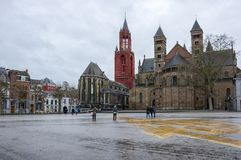The Basilica of Saint Servatius. Is a Roman Catholic church dedicated to Saint Servatius, in the city of Maastricht, the Netherlands Stock Photography