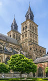 Basilica of Saint Servatius, Maastricht, Netherlands. The Basilica of Saint Servatius is a Roman Catholic church dedicated to Saint Servatius, in the city of Stock Photos