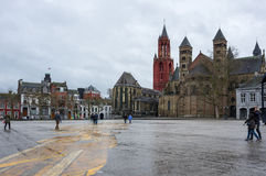 The Basilica of Saint Servatius. Is a Roman Catholic church dedicated to Saint Servatius, in the city of Maastricht, the Netherlands Stock Photos
