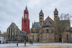 The Basilica of Saint Servatius. Is a Roman Catholic church dedicated to Saint Servatius, in the city of Maastricht, the Netherlands Royalty Free Stock Images