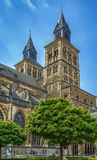 Basilica of Saint Servatius, Maastricht, Netherlands. The Basilica of Saint Servatius is a Roman Catholic church dedicated to Saint Servatius, in the city of Stock Photography