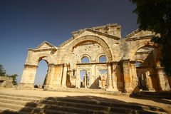 Basilica of Saint Simeon Stylites. Main entrance to the basilica of Saint Simeon Stylites Royalty Free Stock Photos