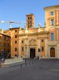 The basilica of Saint Sylvester the First. Rome. Stock Photos