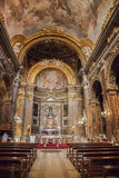 The basilica of Saint Sylvester the First. Rome. Royalty Free Stock Image