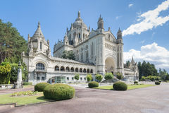 Basilica Saint Therese in Lisieux stock images