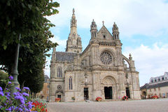 Basilica of Sainte-Anne dAuray in Brittany. Famous place of pilgrimage in Brittany, France Royalty Free Stock Photos