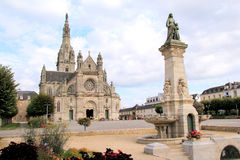 Basilica of Sainte-Anne dAuray in Brittany. Famous place of pilgrimage in Brittany, France Royalty Free Stock Photography