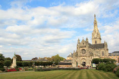 Basilica of Sainte-Anne dAuray in Brittany. Famous place of pilgrimage in Brittany, France Stock Photo