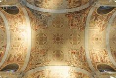 Basilica of Sainte-Anne-de-Beaupre, Quebec. Ceiling of Basilica of Sainte-Anne-de-Beaupre, Quebec City, Canada Stock Photo