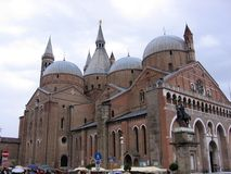 The Basilica of San Antonio is the most important and well-known church in the city of Padua Italy royalty free stock photo