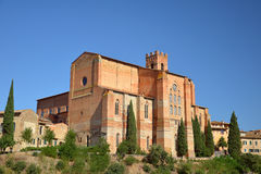 The Basilica of San Domenico from Siena, Italy Royalty Free Stock Photography