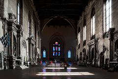 Basilica San Domeniko Siena, Tuscany, Italy, Light and Shade in Church royalty free stock image