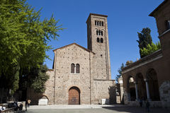 Basilica of San Francesco. In Ravenna stock images