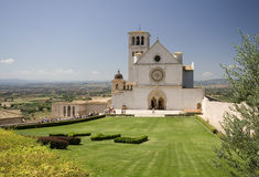 Basilica of San Francesco of Assisi. The famous basilica of Saint Francis of Assisi (1228-1253) in Italy is a major destination for christian pilgrims, but also Stock Image