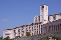 The basilica of san Francesco in Assisi Stock Images