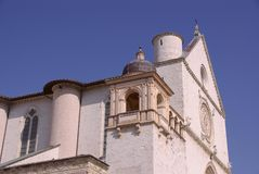 The basilica of san Francesco in Assisi Royalty Free Stock Photography