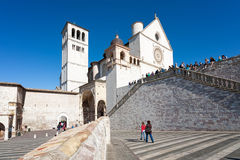 Basilica of San Francesco of Assisi Stock Image