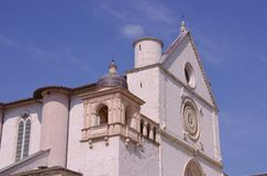 Basilica of san Francesco in Assisi in Italy Royalty Free Stock Image