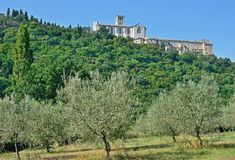Basilica San Francesco,Assisi,Umbria,Italy Royalty Free Stock Image