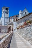 Basilica of San Francesco d`Assisi in Assisi, italy royalty free stock photo