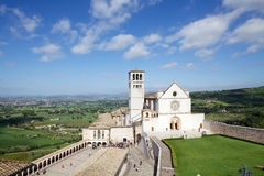 The Basilica of San Francesco d'Assisi, Assisi, Italy Royalty Free Stock Images