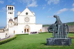 The Basilica of San Francesco d'Assisi, Assisi, Italy Royalty Free Stock Photography