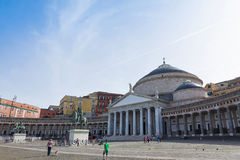 Basilica of San Francesco di Paola in Naples, Italy Royalty Free Stock Photography