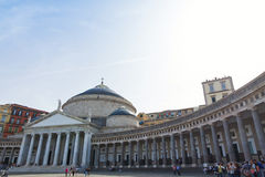 Basilica of San Francesco di Paola in Naples, Italy Stock Photo