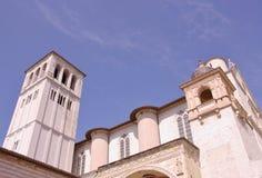 The basilica of san Francesco opposite a blue sky Stock Photo