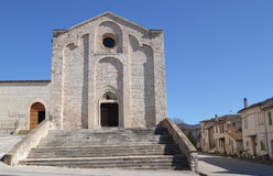 Basilica San Francesco in Sassoferrato Royalty Free Stock Photography