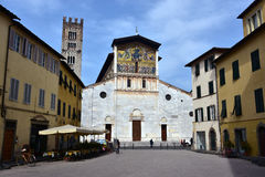 Basilica of San Frediano, a city of Lucca very important landmar Royalty Free Stock Image