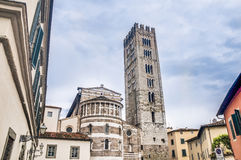 Basilica of San Frediano in Lucca, Italy. Stock Photography