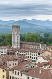 Basilica of San Frediano in Lucca, Italy. Stock Photo