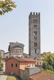 Basilica San Frediano in the Old Town of Lucca, Italy. Royalty Free Stock Photos