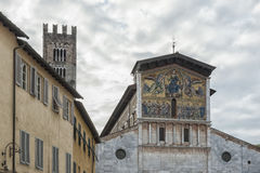 Basilica of San Frediano, situated on the Piazza San Frediano in Lucca, Italy. Basilica of San Frediano, a Romanesque church situated on the Piazza San Frediano Royalty Free Stock Image